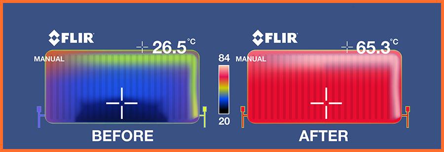 power flushing radiators
